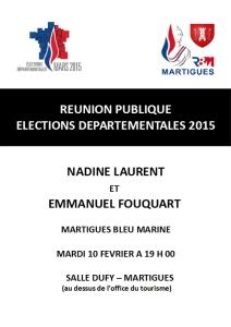 Réunion publique du 10/02/2015 à la Salle Raoul Dufy à Martigues