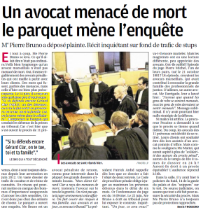 menaces avocat