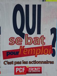 Affiche communiste QUI