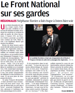Article meeting istres