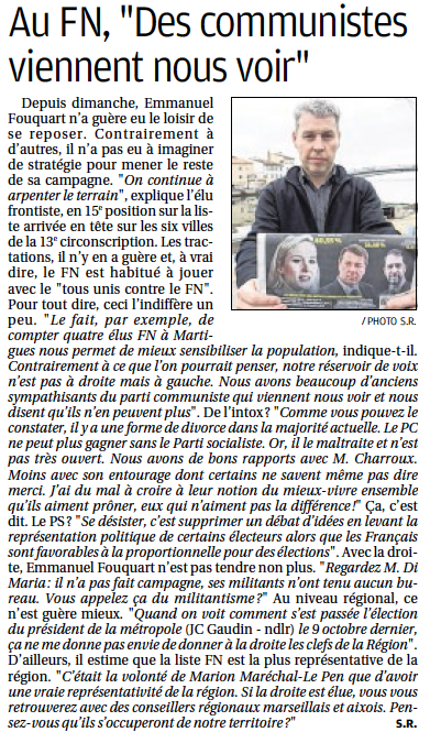 Article Martigues FN