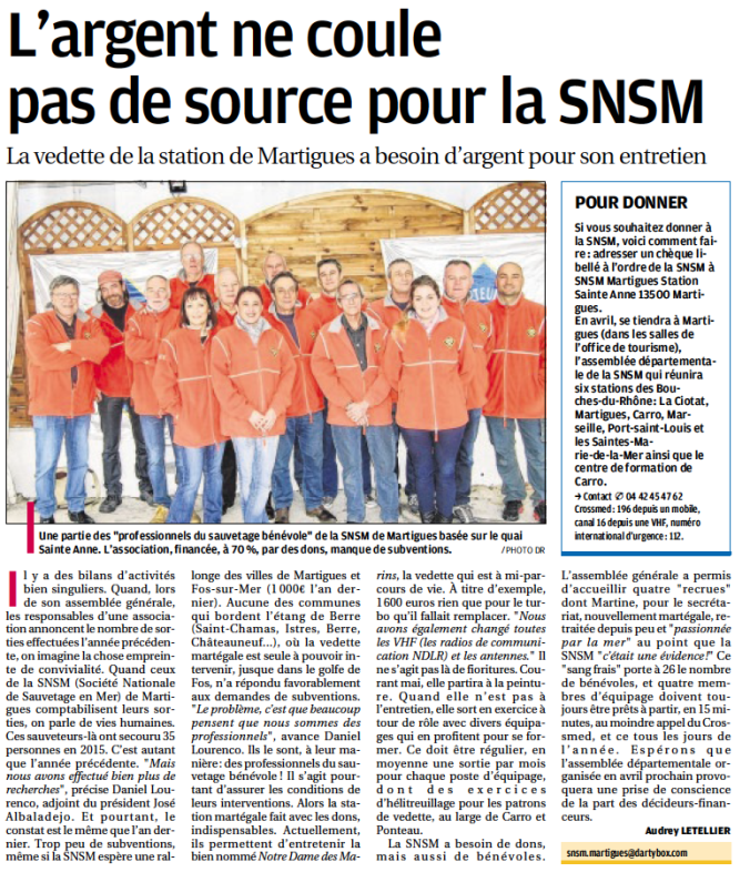Article SNSM