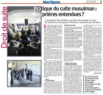 Article mosquée travaux