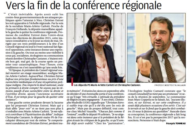 Article fin conférence régionale