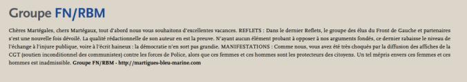 Reflets juillet FN